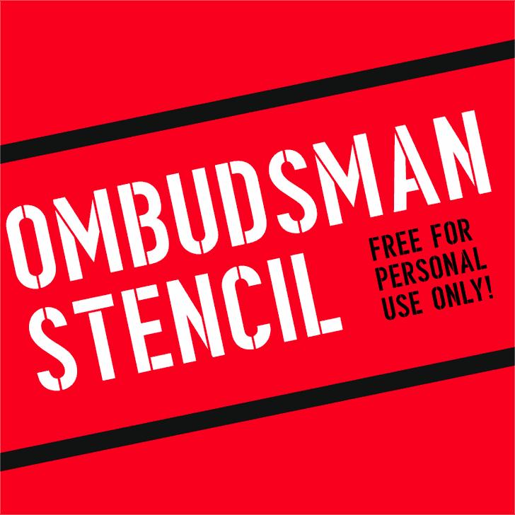 Image for Ombudsman Stencil font