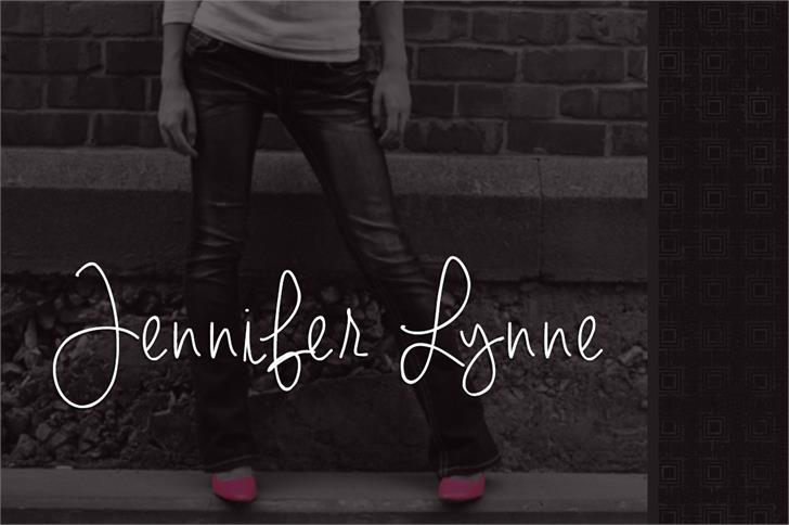 Image for Jennifer Lynne font