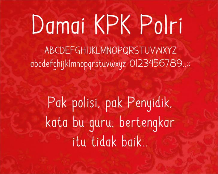 Image for Damai Kpk Polri font