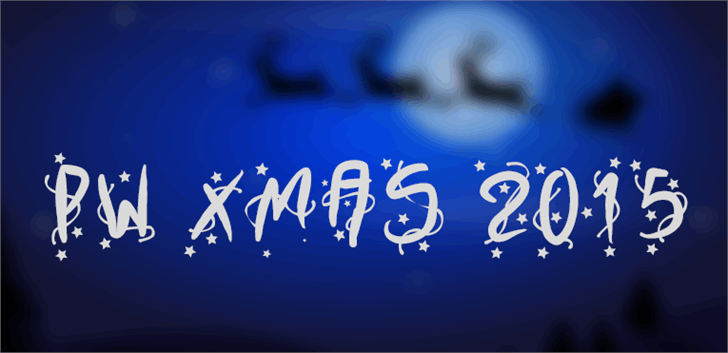 PWXmas2015 font by Peax Webdesign