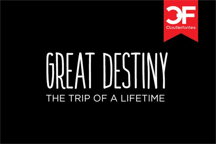 Image for CF Great Destiny font