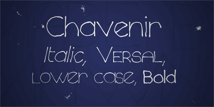Image for Chavenir font