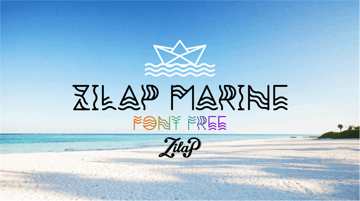 Image for Zilap Marine font