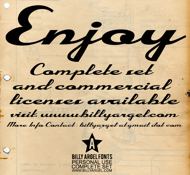 Image for Enjoy Personal Use font