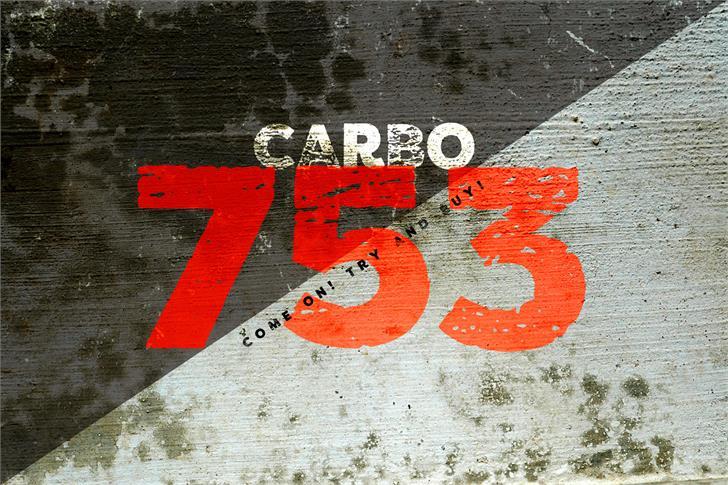 Image for vtks carbo 753 font