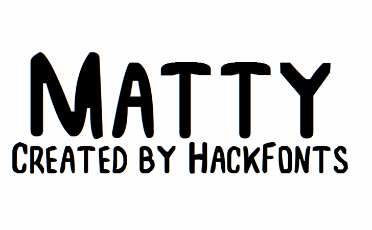 Image for Matty font