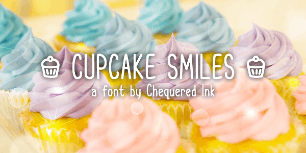 Cupcake Smiles font by Chequered Ink