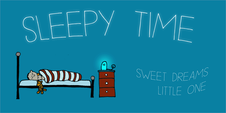 Image for DK Sleepy Time font