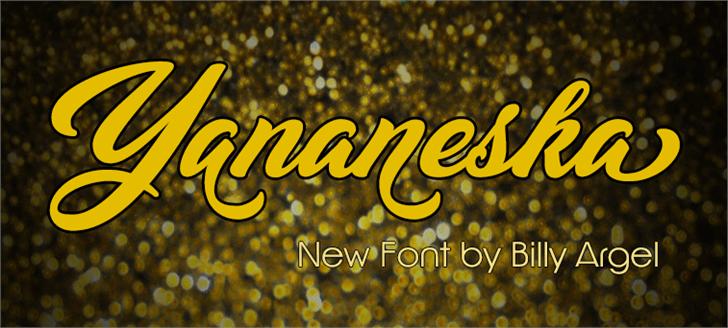 Image for Yananeska Personal Use font
