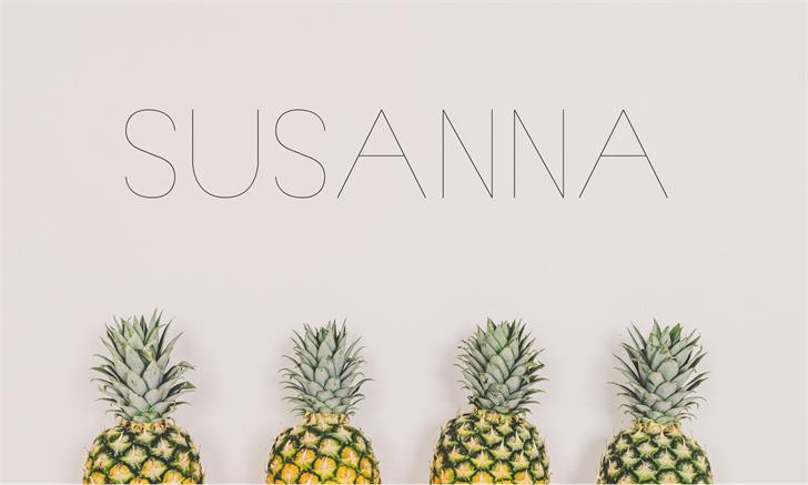 Image for Susanna font