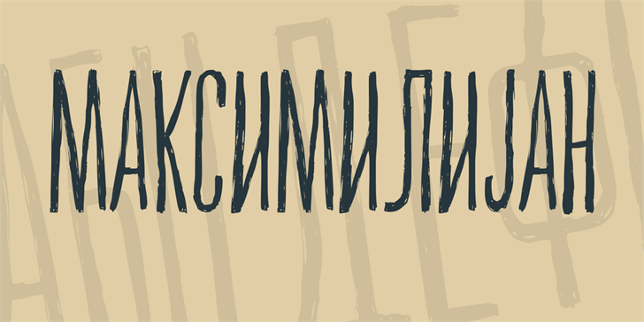 Maksimilijan font by Vladimir Nikolic