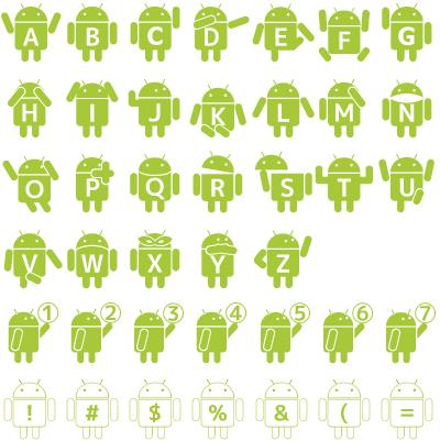 Droid_Robot font by mikan