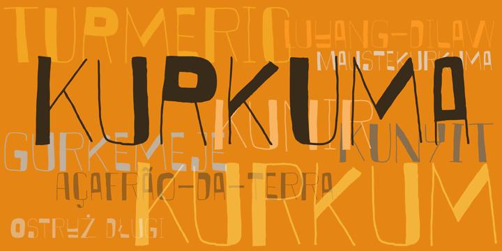 DK Kurkuma font by David Kerkhoff
