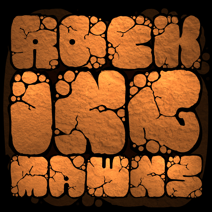 MAWNS rock font by Måns Grebäck