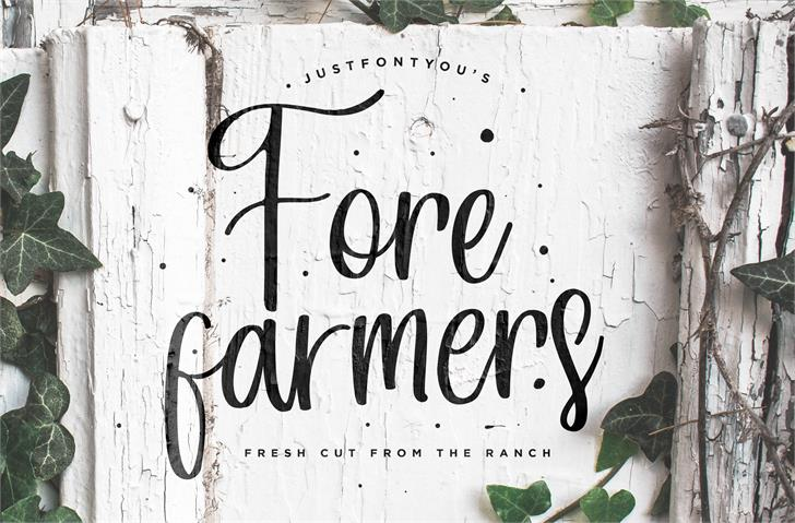 Image for Forefarmers DEMO font