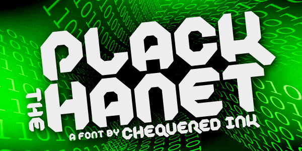 Plack the Hanet font by Chequered Ink
