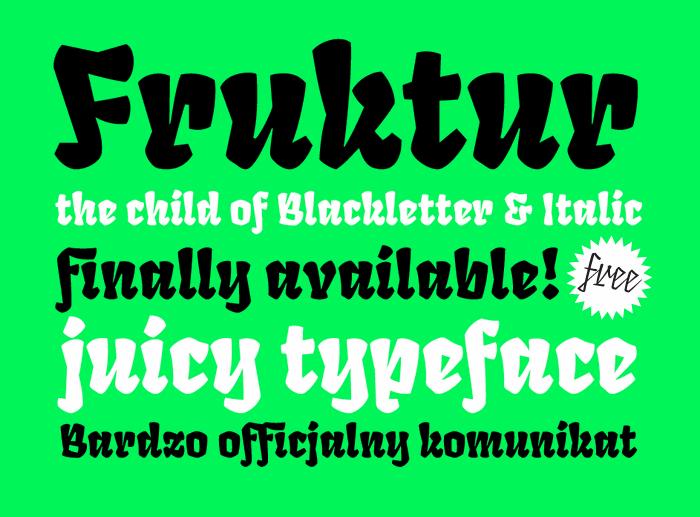 Image for Fruktur font