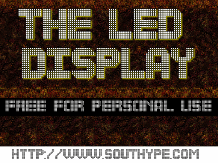 The Led Display St font by Southype