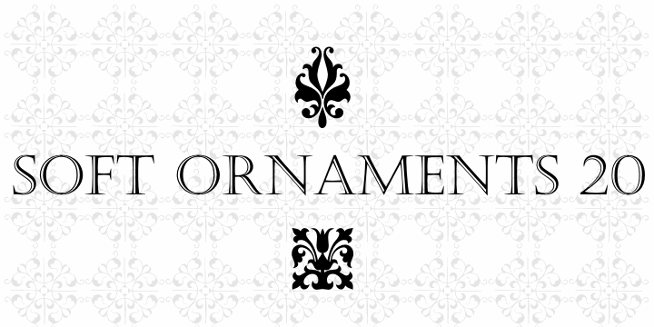 Image for Soft Ornaments Twenty font