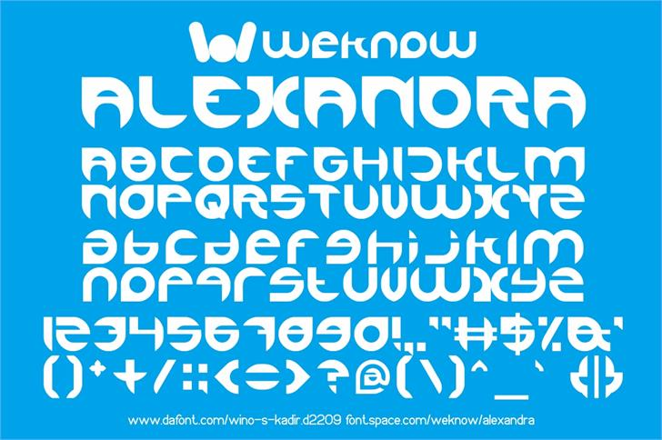 Image for alexandra font