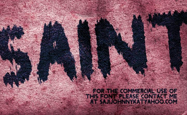 SAINT font by SAJI JOHNNY KUNDUKULAM