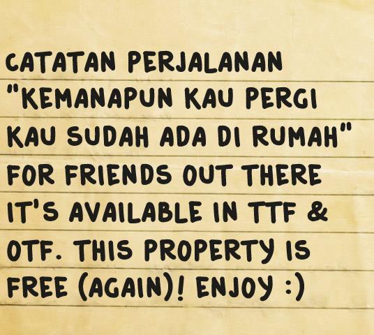 Image for Catatan Perjalanan font