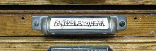 Image for Snippletweak font
