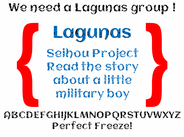 Lagunas font by heaven castro