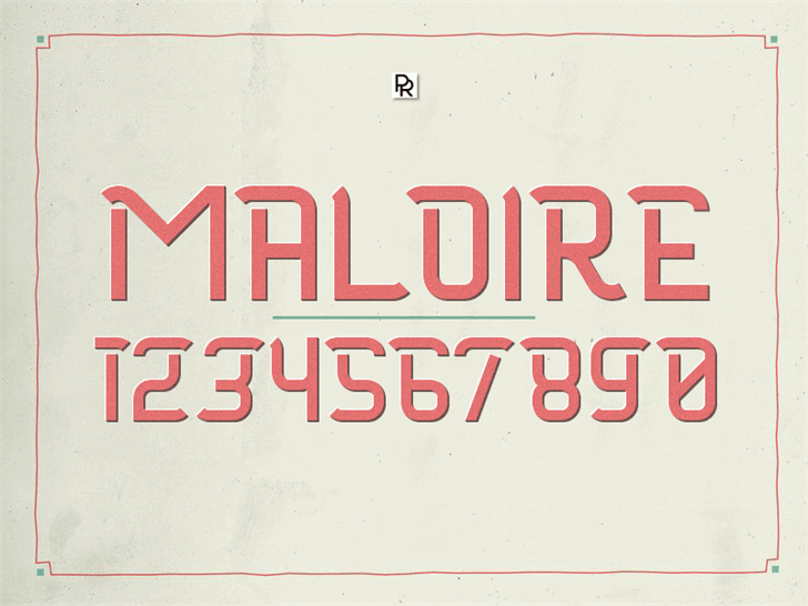 Image for Maloire font