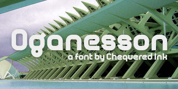 Oganesson font by Chequered Ink