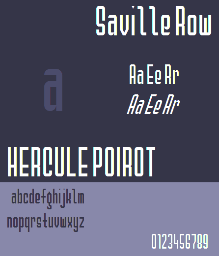 Image for Saville Row NBP font