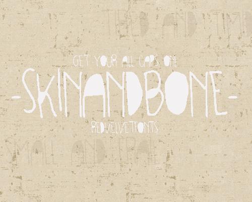 SKINANDBONE font by redvelvetfonts