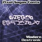 Modern Destronic font by Pixel Sagas