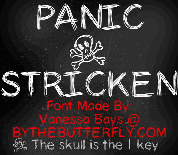 Image for PanicStricken font