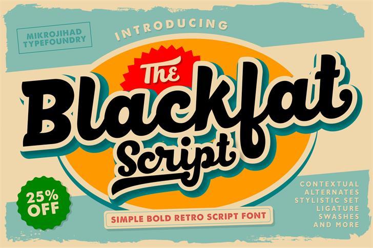 Image for BlackFat font