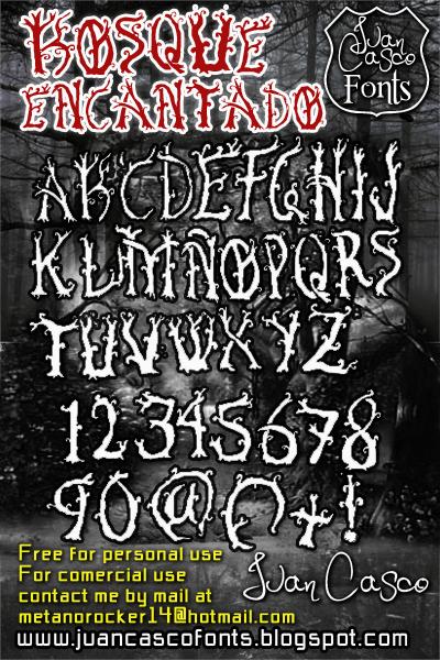 Image for Bosque Encantado font
