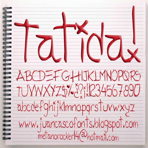 Image for Tatida!  font
