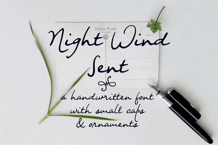Image for Night Wind Sent Sample font