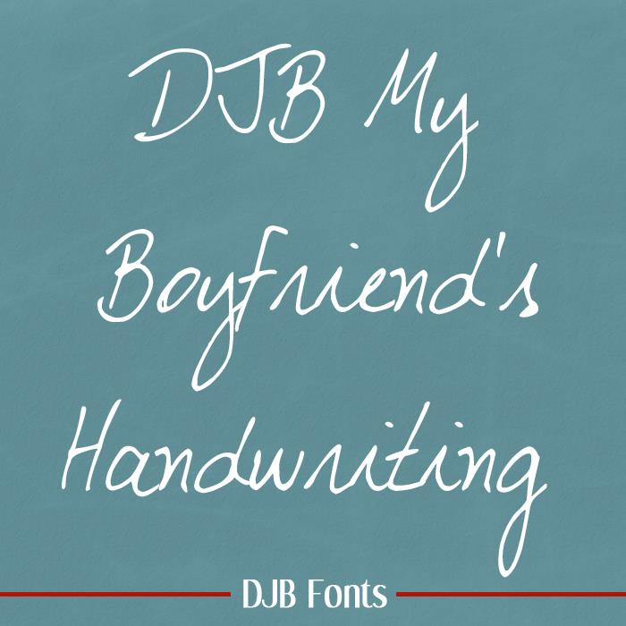 Image for DJB My Boyfriend's Handwriting font