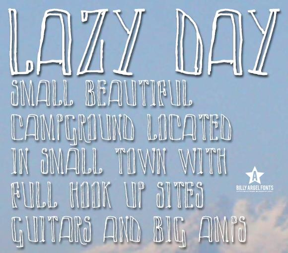 Image for LAZY DAY font