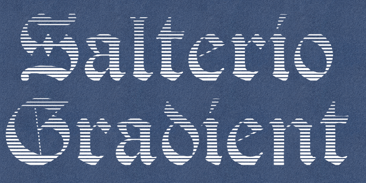 Image for Salterio Gradient font