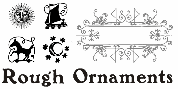 Rough Ornaments Free font by Intellecta Design