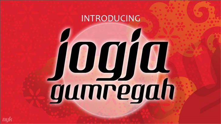 Image for Nyk Jogja Gumregah font