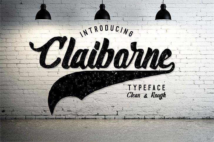 Claiborne font by madeDeduk