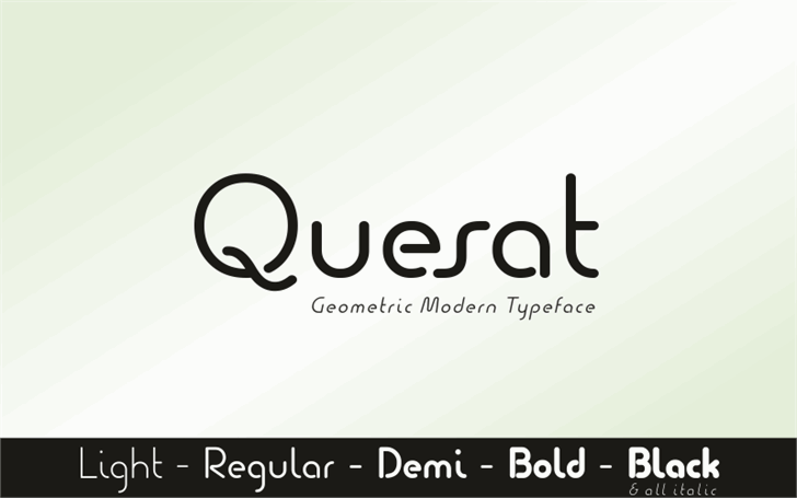Quesat Demo font by studiotypo