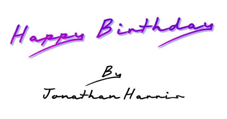 Image for Happy Birthday font