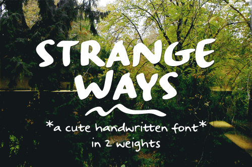 Image for Strangeways Sample font