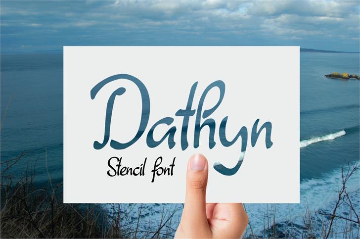 Dathyn font by Eva Barabasne Olasz