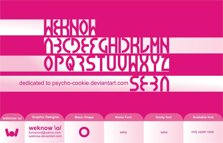 Image for seba font