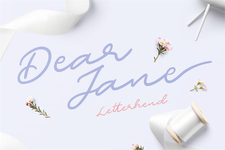 Dear Jane font by Letterhend Studio